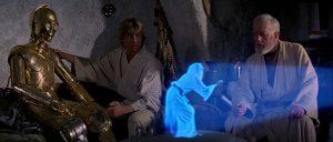 Tecnoogía holográfica en el cine