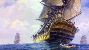 Galeón español del siglo XVII