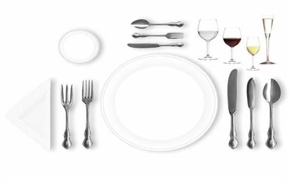 Protocolo en la mesa y el lenguaje de los cubiertos for Como colocar los cubiertos en la mesa