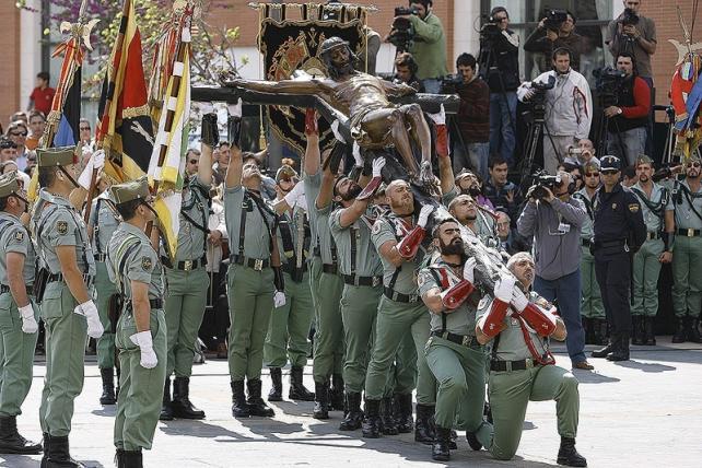 Cristo de la Legión Española en Málaga